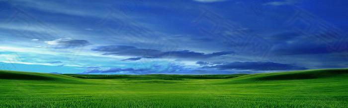蓝天绿源高清背景图