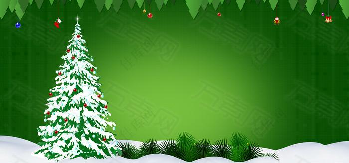 绿色圣诞节背景