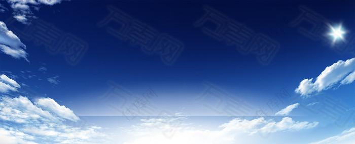 天空蓝色背景