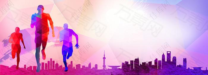 青春运动活力创意banner背景