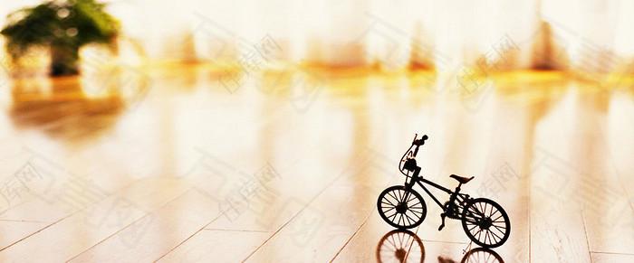 单车旅行banner背景