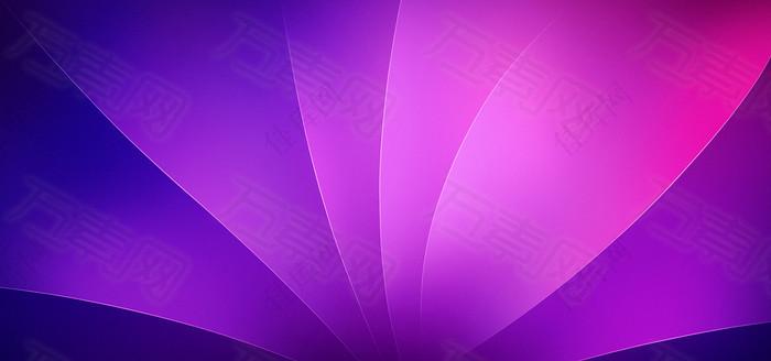 紫色科技背景展板