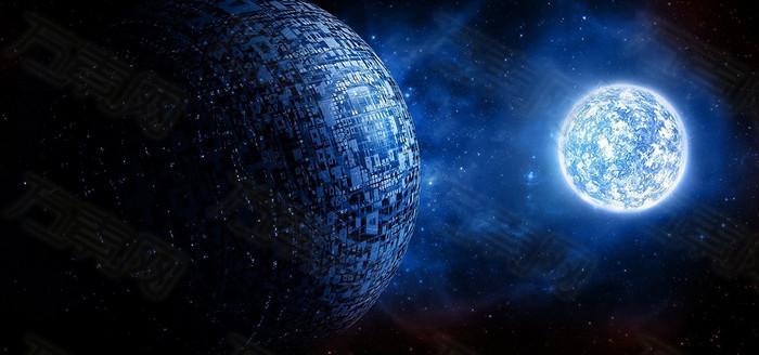 蓝色星球背景图片