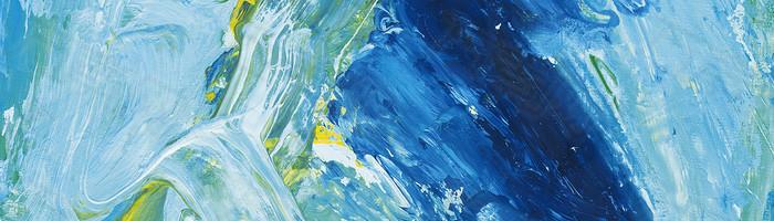 抽像水彩绘画色彩蓝色背景