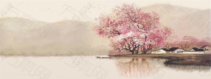 中国风素雅清风笔墨适当清新典雅笔墨生风画龙点睛朴素自然简朴自然风景桌面背景