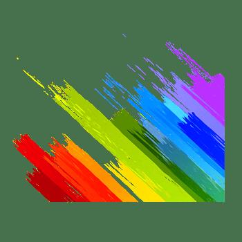 彩色动感墨迹线条