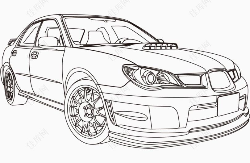 汽车正面线条图片免抠素材