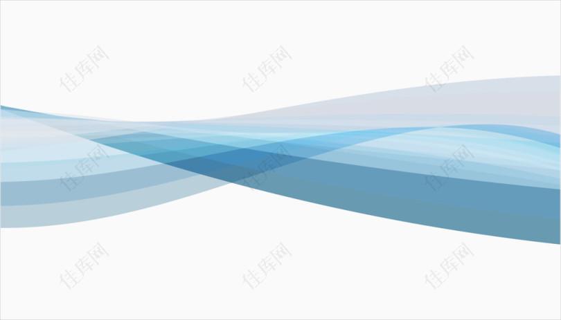 矢量蓝色动感波浪纹理