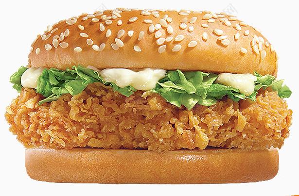 饼干素材甜品快餐汉堡包汉堡芝麻鸡肉肉生菜