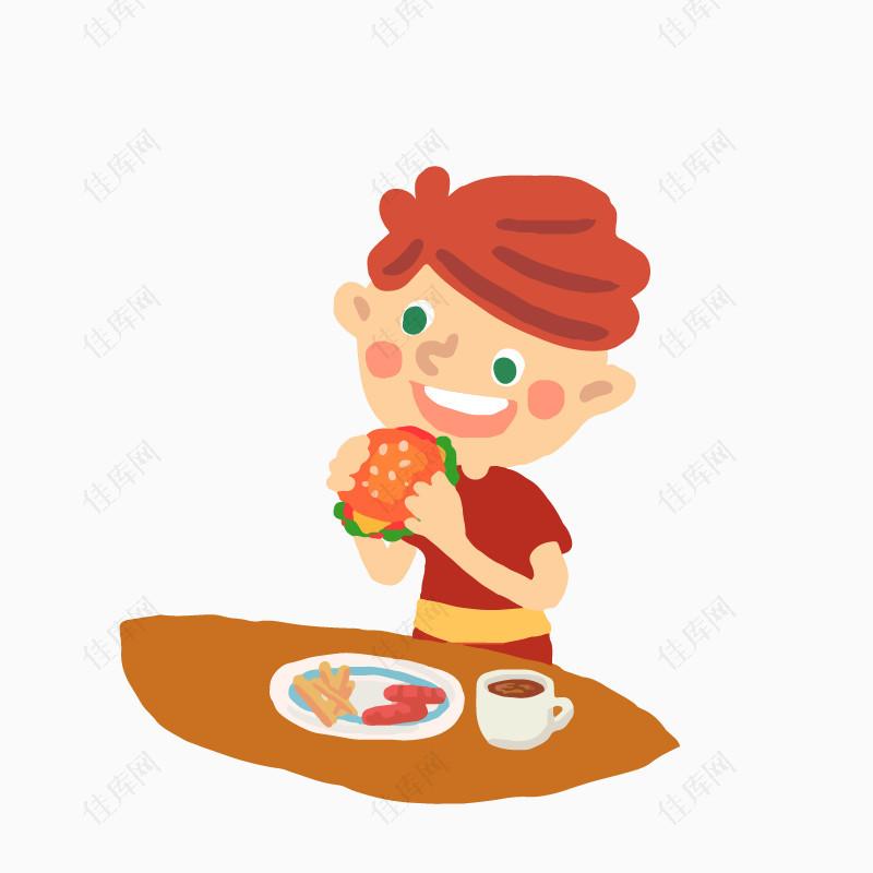 吃饭的小孩