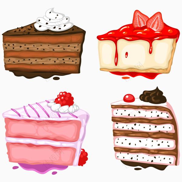 手绘卡通蛋糕