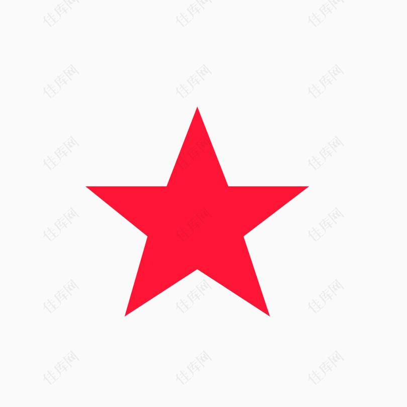 红色的五角星背景装饰