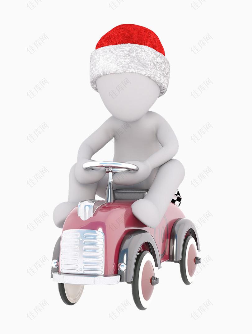 开车的圣诞小人