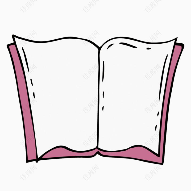 矢量翻开的空白书籍素材
