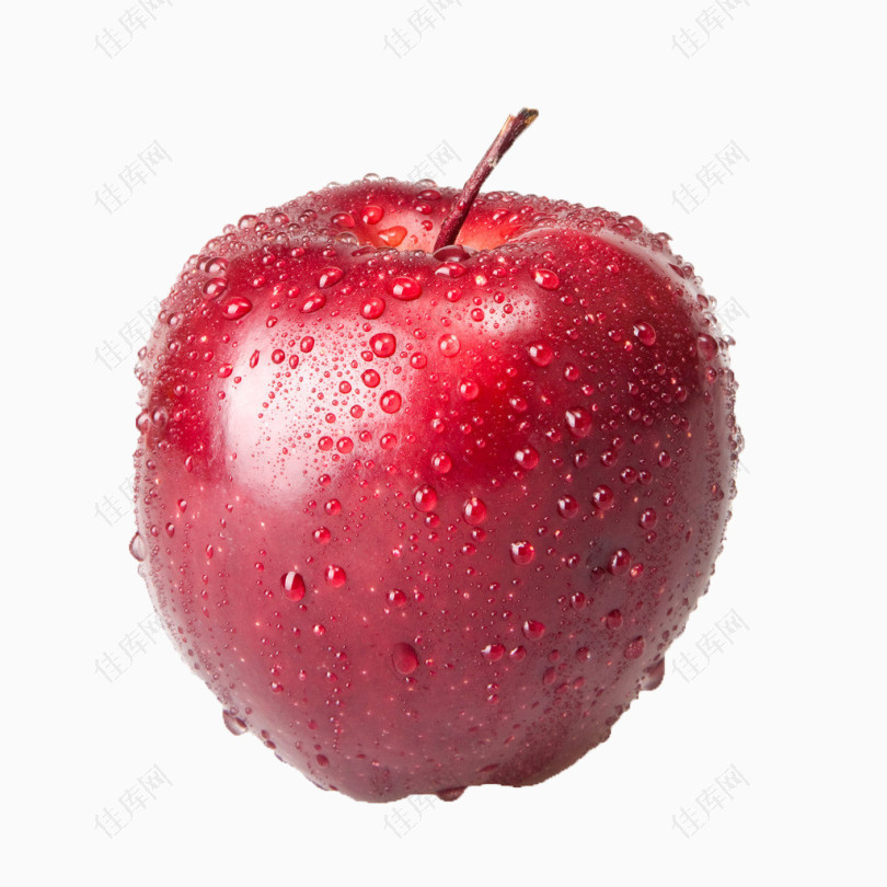 3d素材水果卡通红苹果
