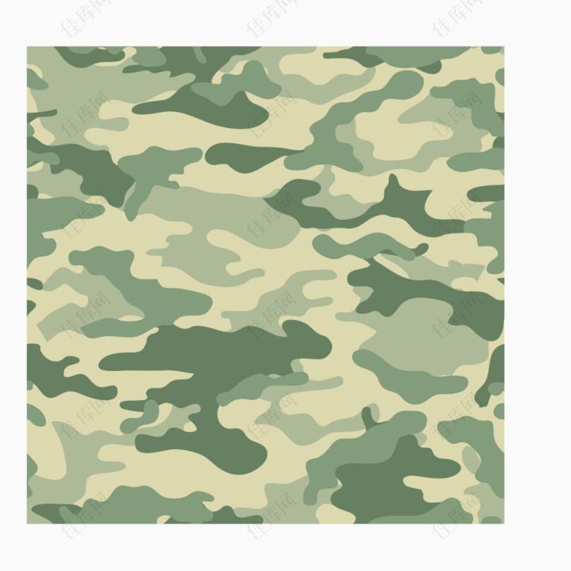 军事迷彩淡绿色图案