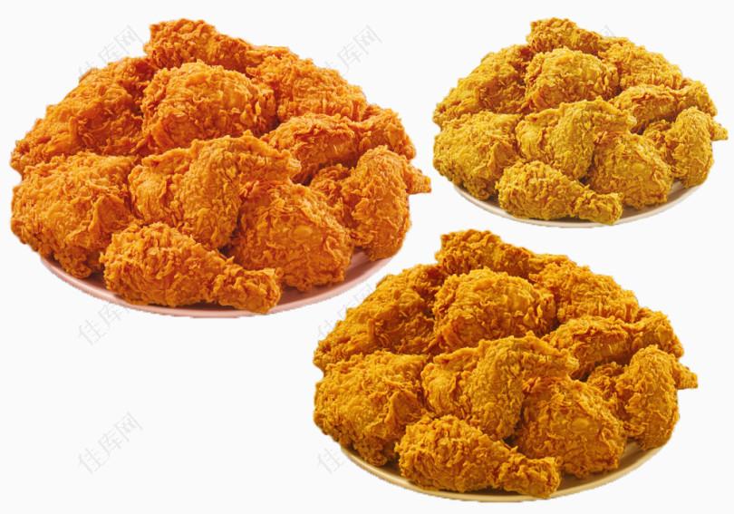 脆皮炸鸡素材