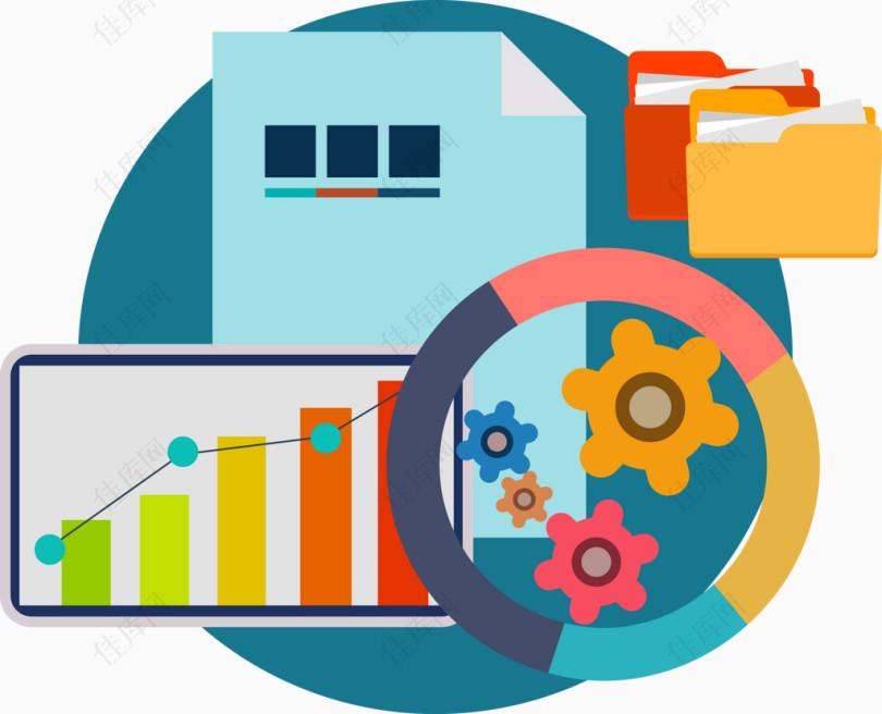 数据管理图标矢量图