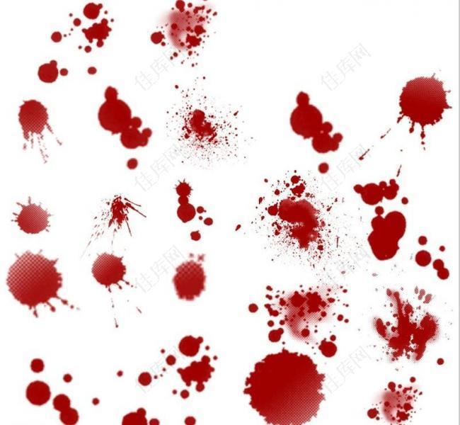 血液 滴溅笔刷图片