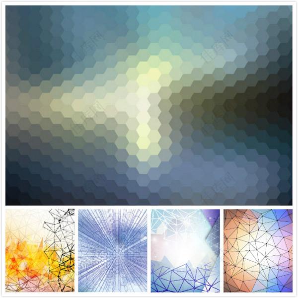炫彩几何元素背景
