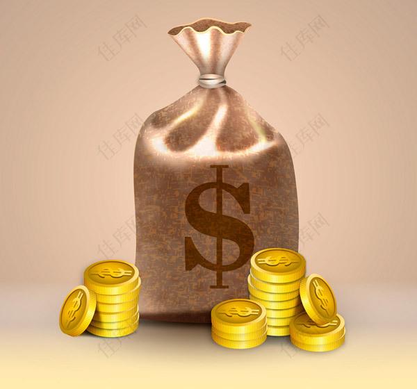 精美钱袋和金币