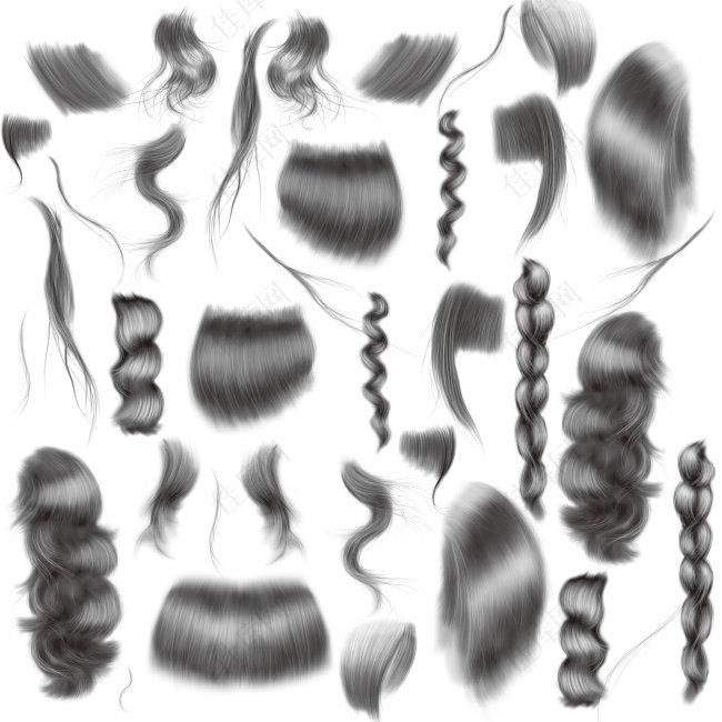 美女头发笔刷