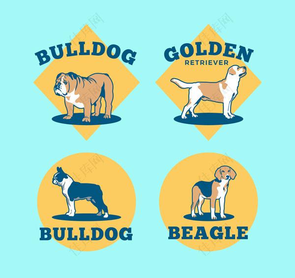 宠物狗标签矢量