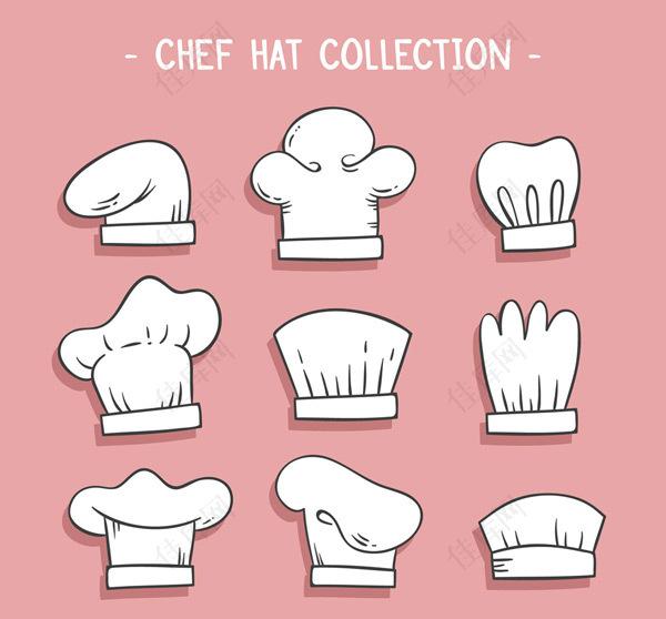 白色厨师帽贴纸