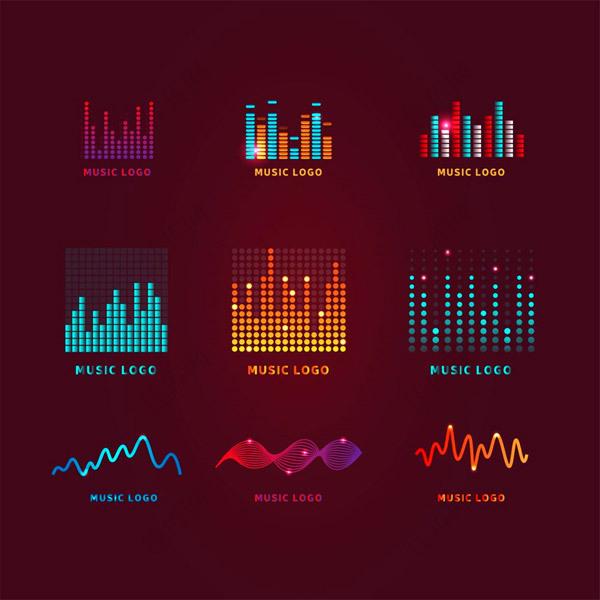 彩色音频标志