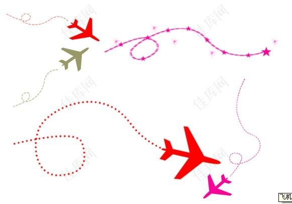 飞机曲线笔刷图片