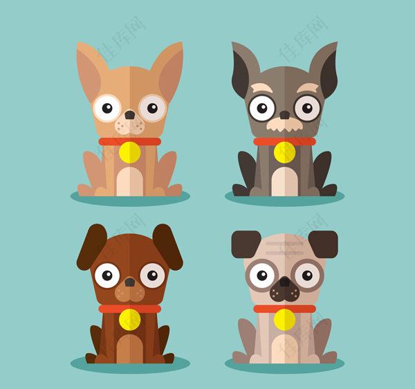 扁平化宠物狗