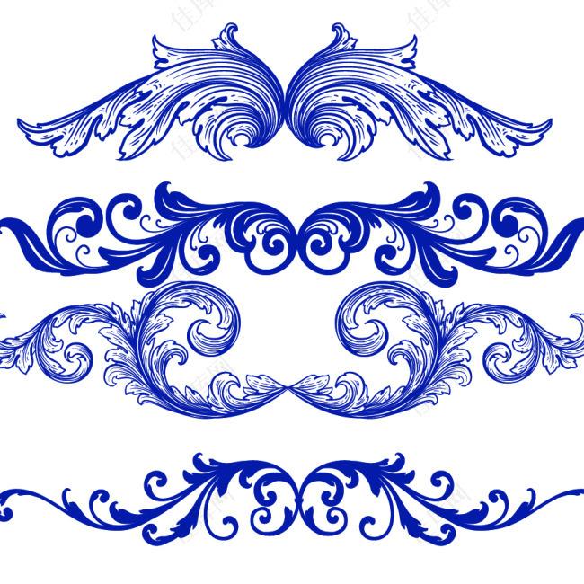 欧式花纹笔刷