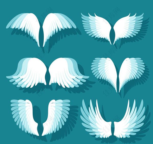 白色翅膀设计