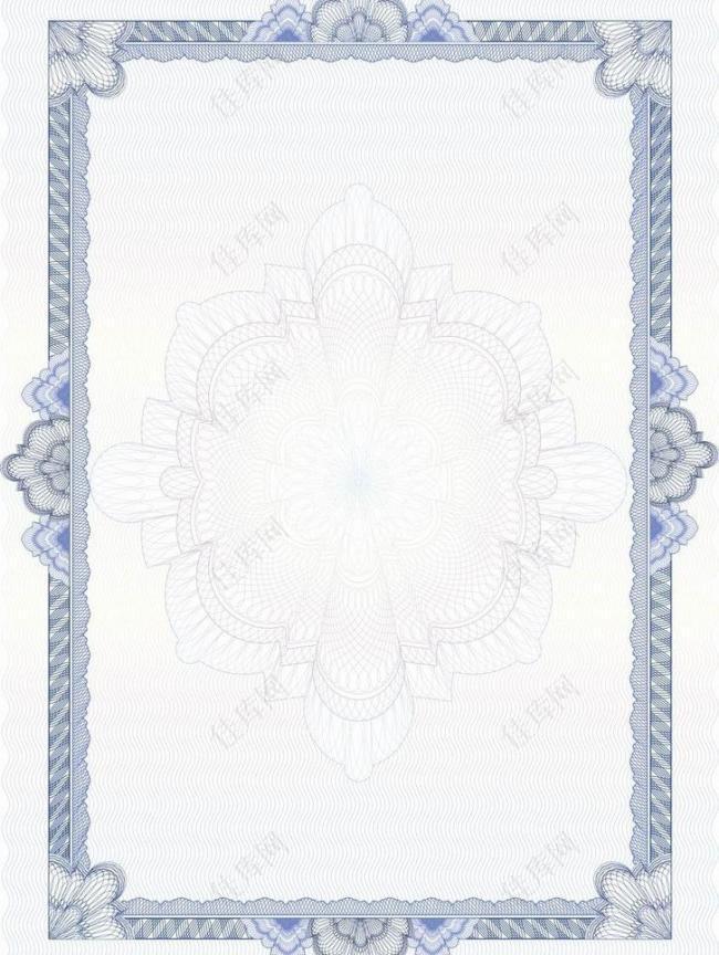 欧式花纹边框 证书图片