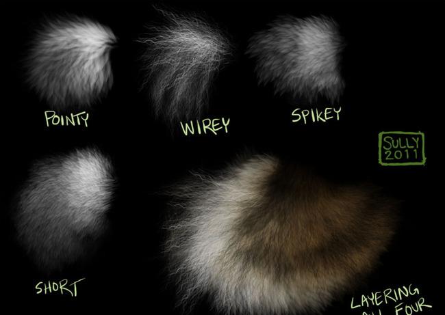 动物毛发笔刷