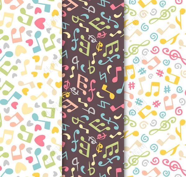 音符和爱心背景
