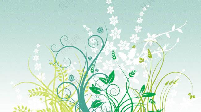 花卉藤蔓花纹PS笔刷
