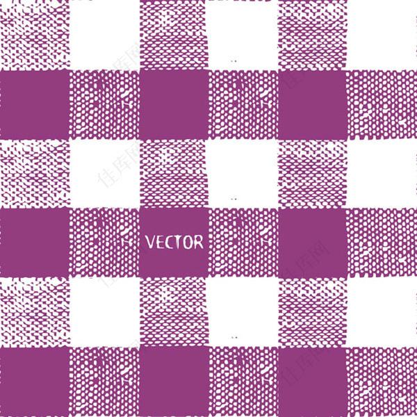 紫色格子布纹背景