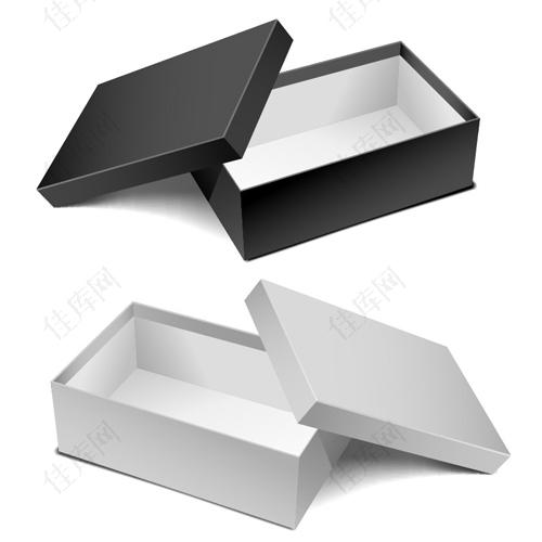 包装盒元素矢量