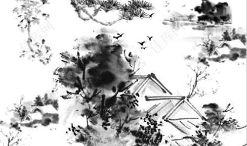 意境水墨中国风ps笔刷图片