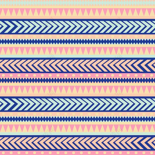 无缝矢量纹理矢量图案丰富多彩的民族部落部落的条纹图案的几