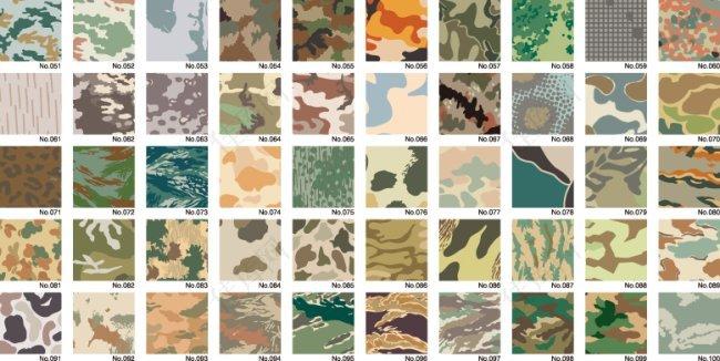 各种部队矢量图案迷彩