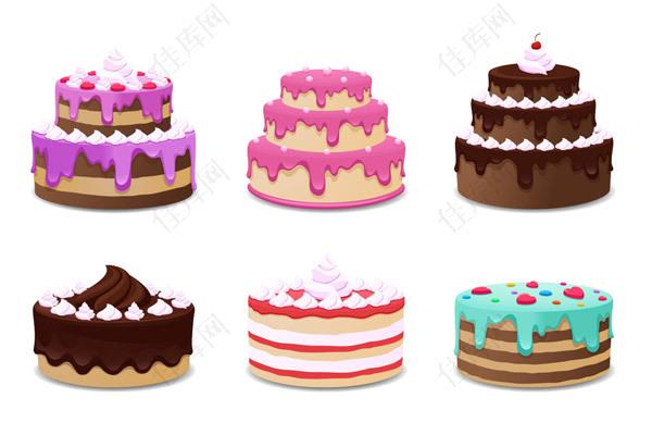 美味蛋糕矢量
