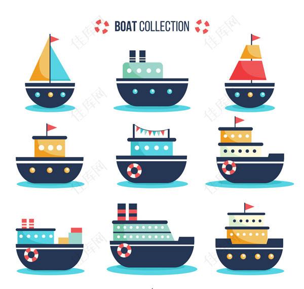 创意卡通船舶