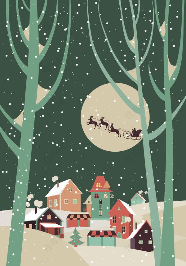 圣诞节夜晚