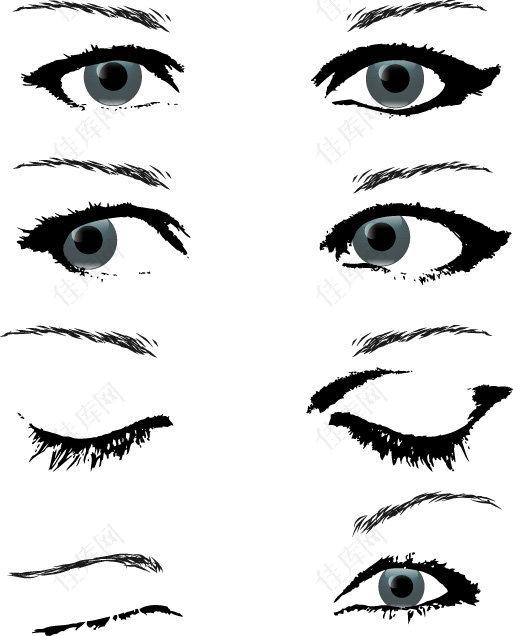 眼睛矢量图