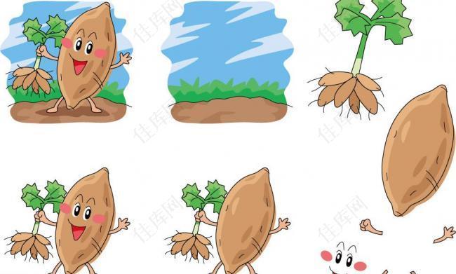 手绘红薯表情图片