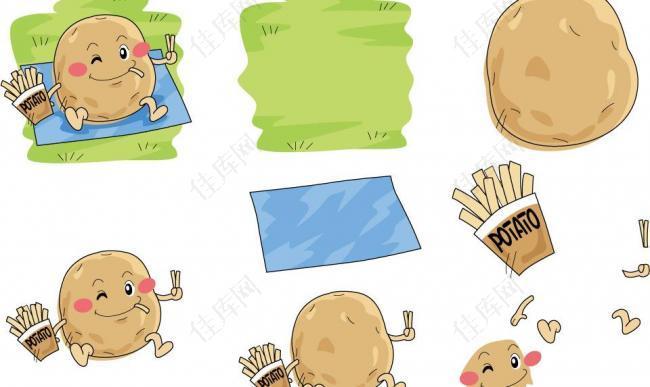 手绘土豆表情图片