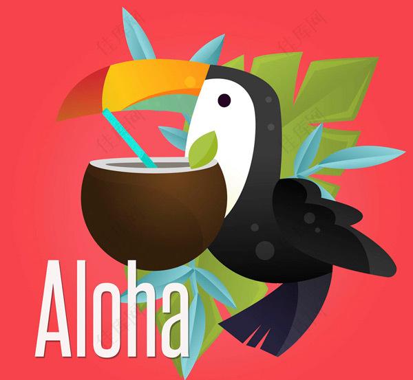 夏威夷大嘴鸟