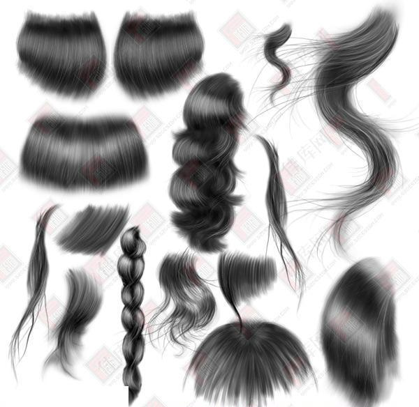 头发笔刷细腻逼真